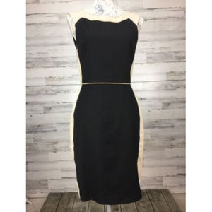 Banana Republic sz 6P Sheath Dress Black Tan Side